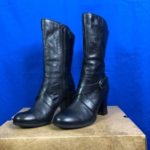 Born Nuri Black Leather Boots Sz 8.5M